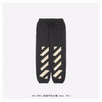 OFF-WHITE Tape Arrows Long Sweatpants Black/Beige