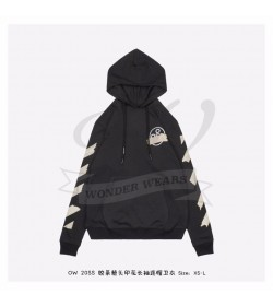Off-White Tape Diag Arrows Hoodie Black/Beige