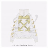 Off-White Tape Diag Arrows Hoodie White/Beige