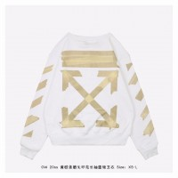 OFF-WHITE Tape Diag Arrows Sweatshirt White/Beige