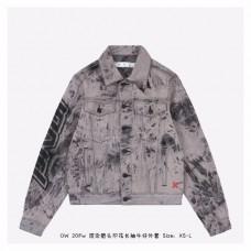 Off-White Tie-dye Print Denim Jacket