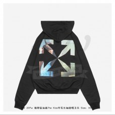 """Off-White """"THE KISS"""" Kiss Hoodie in Black"""