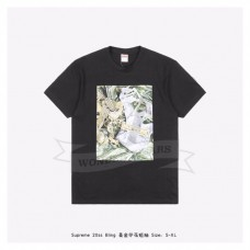 Supreme bling dollar print T-shirt Black