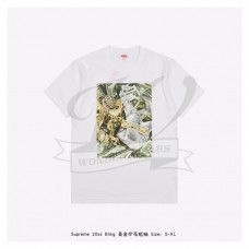 Supreme bling dollar print T-shirt White