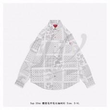 Supreme Paisley Grid Shirt White