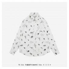 TB Animal Print Button Down Shirt