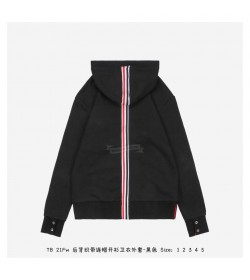 TB Classic Loopback Center Back Stripe Zip-up Hoodie