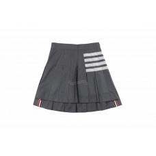 TB Plain Weave Mini Pleated 4-Bar Skirt