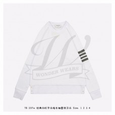 TB White Raglan Sleeve 4-bar Sweatshirt