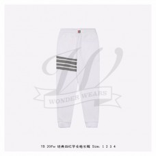 TB White Waffle 4-bar Stripe Sweatpants