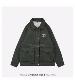Timberland Classic Logo Suede Jacket Green