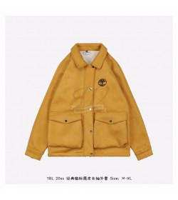 Timberland Classic Logo Suede Jacket Yellow