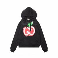 GC Hooded sweatshirt with GG apple print Black